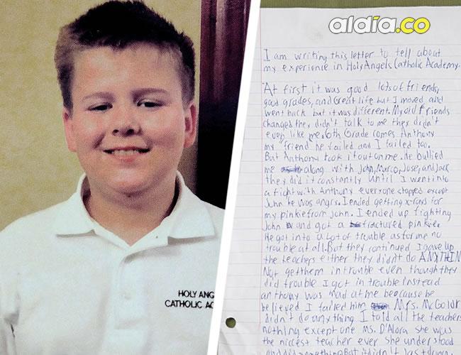 Daniel Fitzpatrick tenía 13 años  y dejó una carta donde cuenta cómo era víctima de acoso en su colegio | Nydailynews