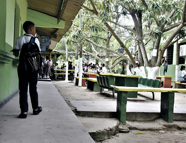 Instalaciones del colegio ubicado en el municipio de Malambo | Foto: Al Día