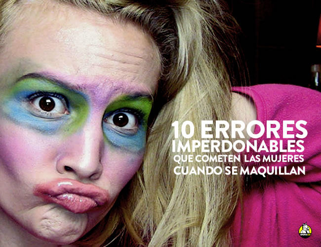 El maquillaje exagerado es un problema que se ve mucho en las calles | ALDÍA.CO