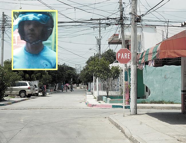 En la calle 119 con carrera 26, barrio La Pradera, fue asesinado de un tiro Steven Herrera. | Foto: Archivo