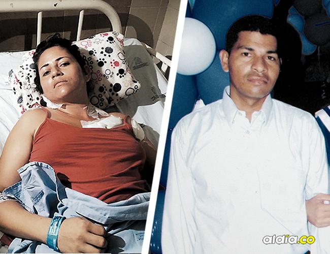 En el Hospital General de Barranquilla se recupera de las heridas Deniris Payares Pabón. El agresor, Celso Rodríguez Chacón, fue capturado por la Policía. AL DÍA