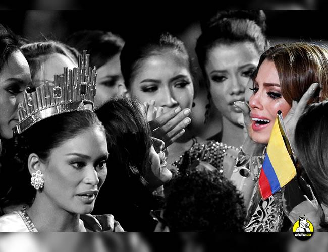 Ariadna Gutiérrez protagonizó, tristemente, la coronación más infame de la historia de Miss Universo. El presentador Steve Harvey la dio por ganadora equivocadamente | ALDIA.CO