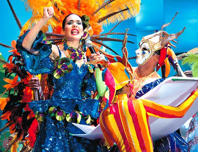 La Reina del Carnaval 2013, Daniela Cepeda Tarud, mencionó en su bando a los espíritus Yemayá, Babalú y Mayombé. | Foto: Archivo