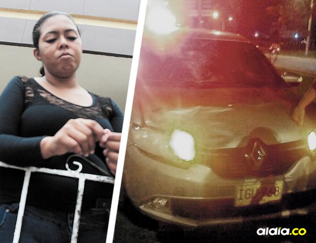 Jeniffer Cantillo, hija de Orlando Luis. Este es el vehículo de placas IGU 968 involucrado en el choque. | AL DÍA
