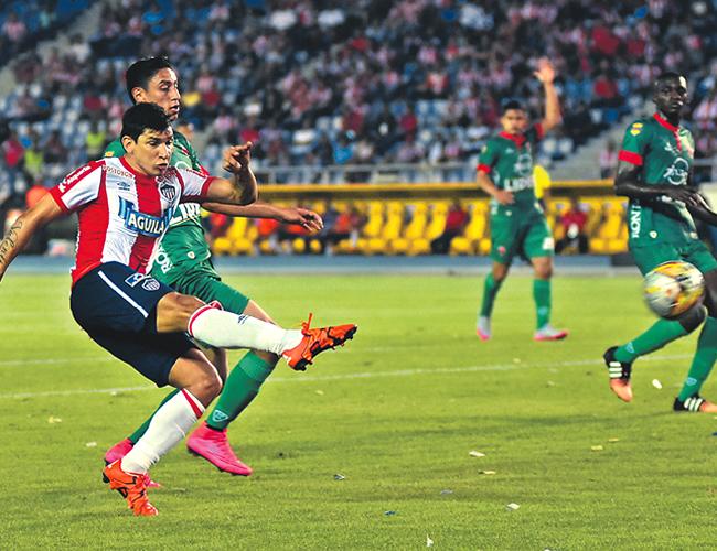 El delantero paraguayo suma 22 goles con la camiseta de Junior. | Foto: Archivo
