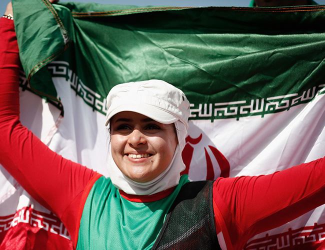 Zahra Nemati, una mujer iraní de 31 años que está dando ejemplo de tenacidad, fortaleza y superación en Río 2016.| nbcnews.com