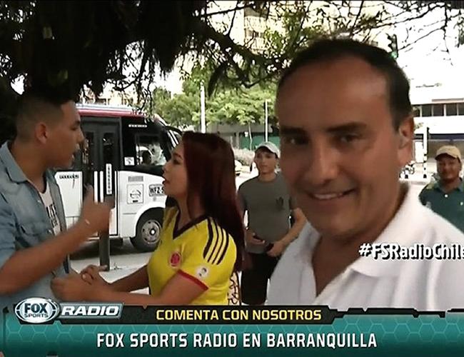 El periodista Jorge Cubillos pasó un mal rato en televisión internacional. | Fox Sports