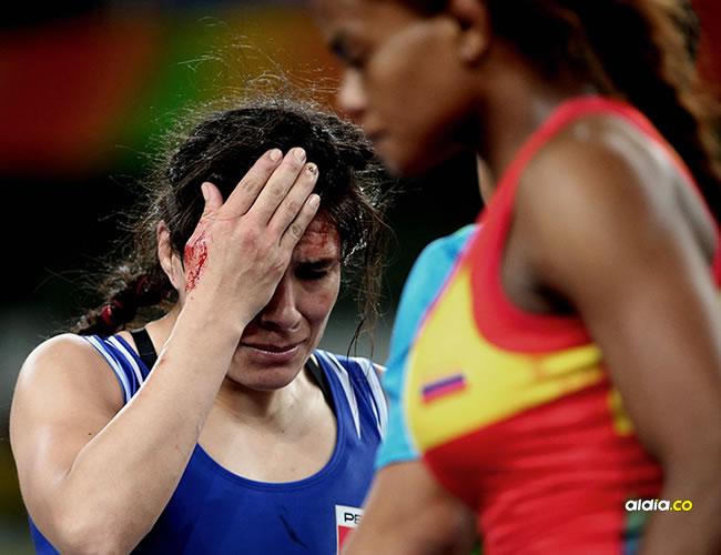 La colombiana Jackeline Rentería vapuleó a la peruana Sovero en los octavos de final de la lucha grecoromana | EFE