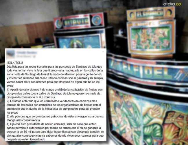 A través de una publicación de Facebook se está amenazando a los dueños de picós | ALDÍA.CO