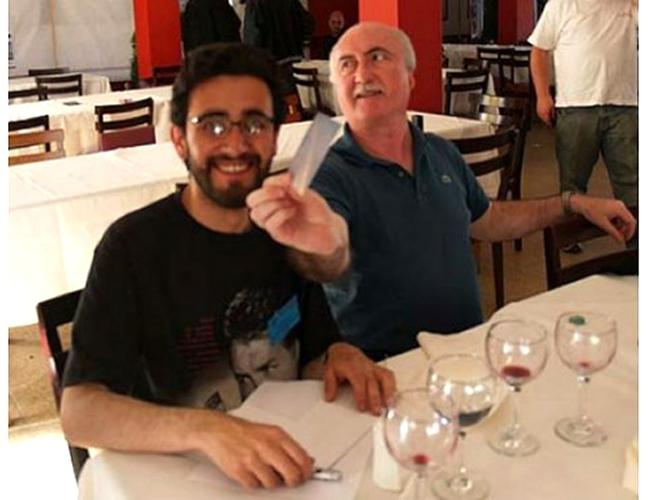 Leonardo Ariza (izquierda), durante un Congreso Internacional en Mar del Plata | www.cielossur.com