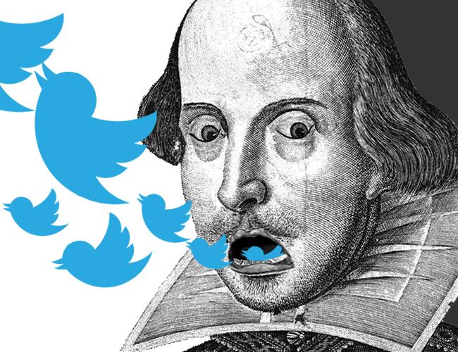 Si usted tiene una cuenta de Twitter y la usa mucho, es hora de que esta página lo haga sentir como el mismo Shakespeare de su bario | ALDIA.CO