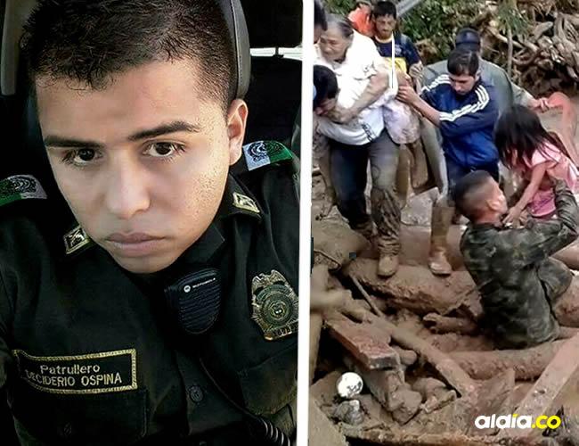 Deciderio Ospina, patrullero muerto en Mocoa | @PoliciaColombia