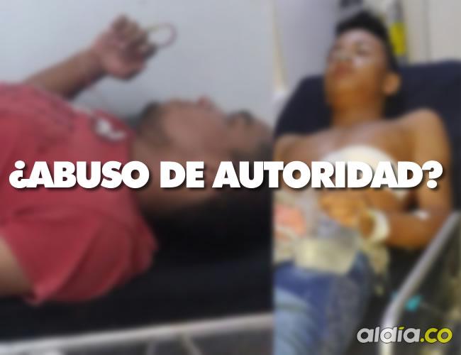 Ciduar Rojas Suárez  y Samuel León Cárdenas resultaron heridos por la Policía | Foto: Al Día