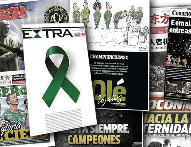 Medios de los cinco continentes llevaron en sus portadas la noticia del accidente del avión que transportaba al club brasileño Chapecoense | Al Día