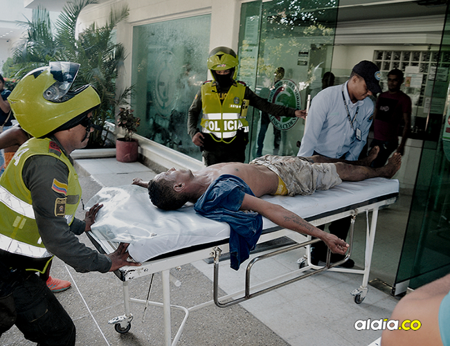 Emiro Jaime Guerra Moscote, de 37 años, fue agredido con un puñal en una riña registrada en el barrio La Mano de Dios, en Riohacha.   AL DÍA