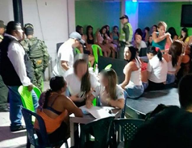 La visita a los establecimientos tuvo el apoyo de la Policía de Infancia y Adolescencia y agentes del Gaula | Foto: Cortesía