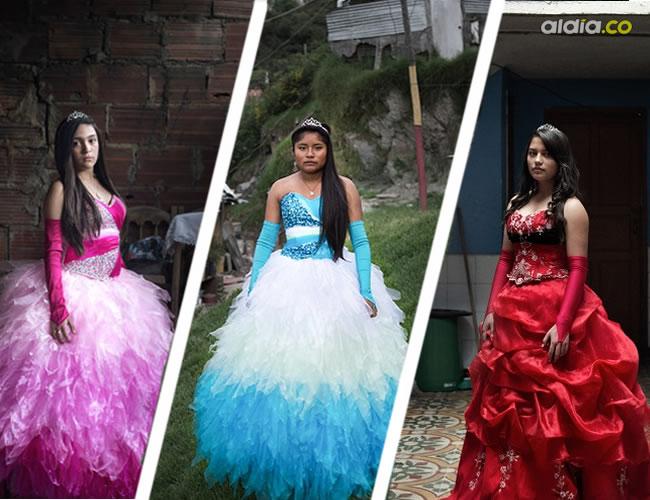 La fotografa quería mostrar el contraste entre la humildad de sus hogares con lo colorido de sus vestidos | ALDÍA.CO-Delphine Blast