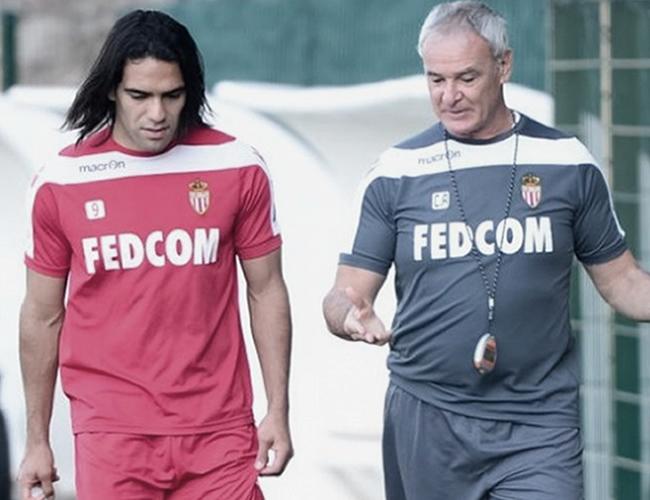Falcao junto a Ranieri en su paso por el Mónaco de Francia. | Foto: Archivo