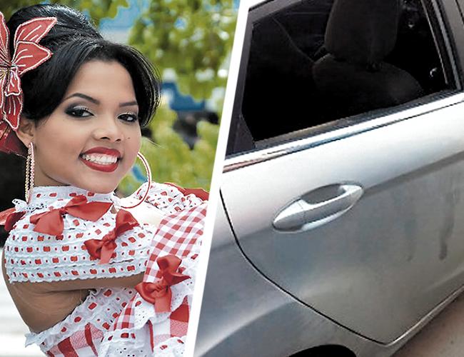 Este fue el vehículo donde sacaron el dinero y las pertenencias de la soberana de los soledeños Nicolle Pájaro Rolando. |  AL DÍA