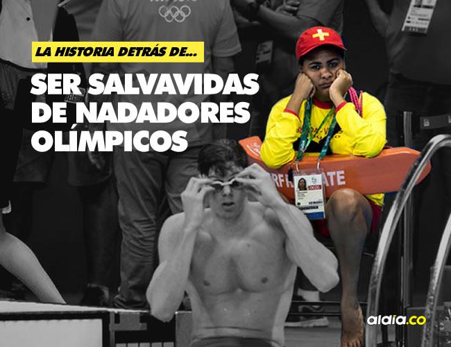 Los salvavidas encuentran tan gracioso como el resto del público el hecho de tener que cuidar a nadadores profesionales. |  Doug Mills/The New York Times
