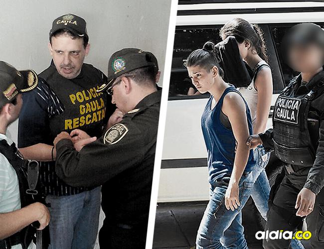 omentos en que la Policía rescata al ciudadano colombo estadounidense Osorio Mejía. Dos mujeres estaban presuntamente implicadas en este hecho. | AL DÍA