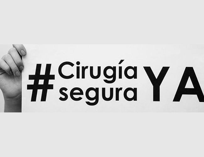 La campaña 'Cirugía Segura Ya' se hizo viral como protesta de las víctimas a los malos procedimientos estéticos. | Foto: Twitter