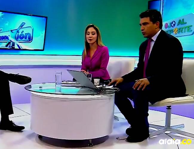 Los presentadores de Canal Capital reaccionaron de forma calmada frente al temblor | Captura de pantalla