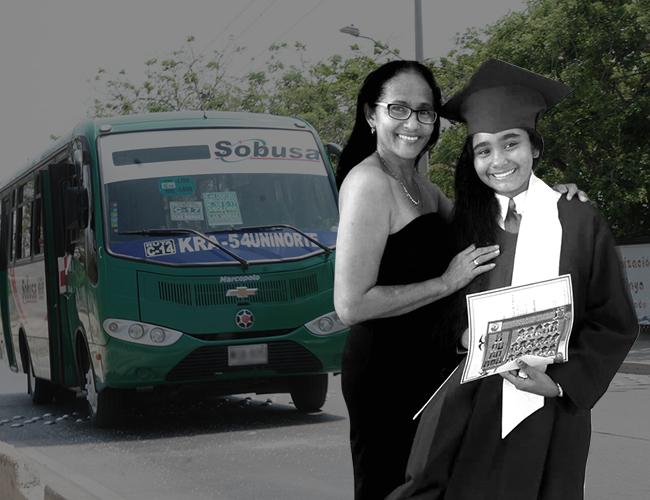 Silvia Rosa González, de 52 años, y su hija Stefanía Carleo González, de 13, quienes fueron arrolladas por un bus. | Archivo