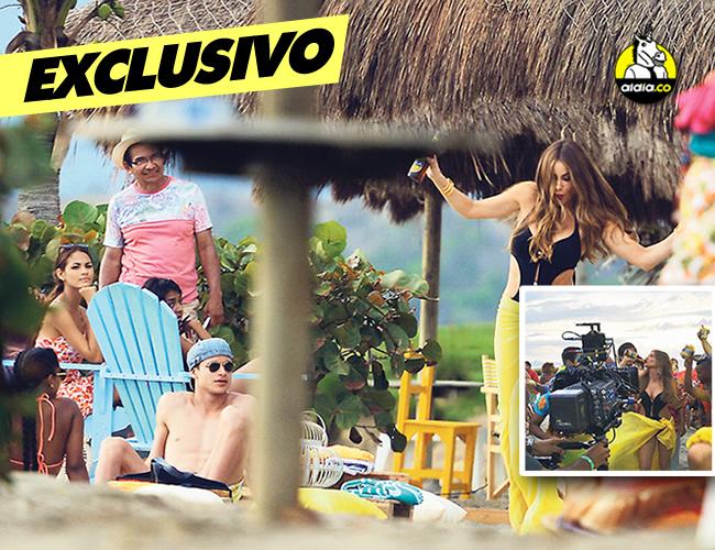 Sofía Vergara es la estrella principal del comercial de Cerveza Águila que se filmará durante estos días en Cartagena.  |  Javier García - AL DÍA