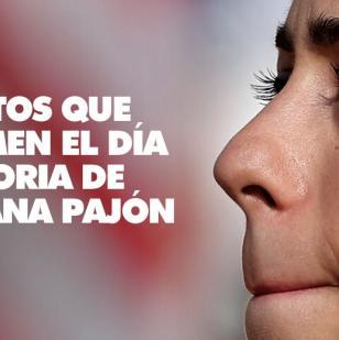 La ganadora de oro, Mariana Pajón de Colombia, llora desde el podio mientras se entona el himno nacional | Leonardo Muñoz/EFE