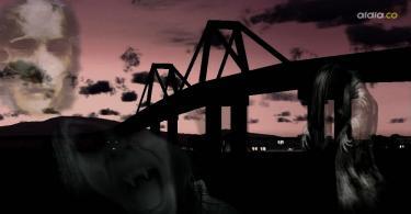 El estruendo de un bus que se sale de control y cae desde el puente hacía el río, es otro de los fenómenos paranormales