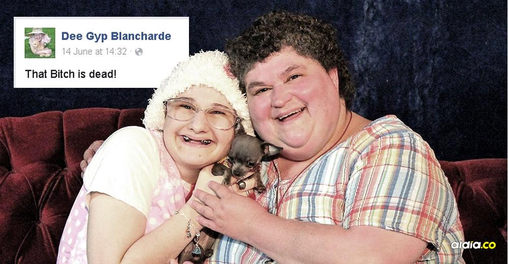 Gypsy Blancharde (izq) y su madre, 'Dee Dee' Blancharde, posando junto a su perro en la época en la que eran estrellas locales que conmovían a los estadounidenses | BuzzFeed