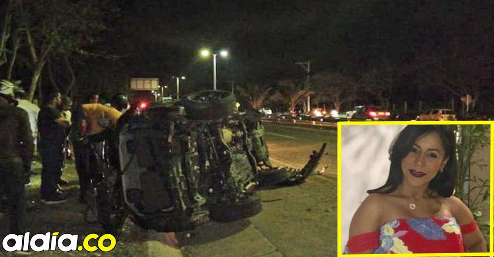 El accidente de Tania Guillot ocurrió a las 10:50 p.m. del pasado viernes en el kilómetro 97 Vía al Mar sentido Cartagena-Barranquilla, antes de llegar a 'la Y de los chinos'.