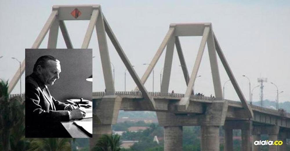 Unas de las grandes obras del ingeniero italiano Riccardo Morandi fue el puente Pumarejo sobre el río Magdalena.