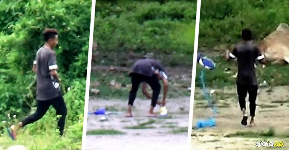 Volaban cometas para despistar a los habitantes y guardaban la droga en bolsas de mecatos | Cortesía Policía Nacional