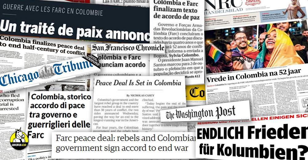 El Gobierno y las Farc anunciaron este martes 24 de agosto desde La Habana, Cuba, el cierre de las negociaciones y el documento definitivo del Acuerdo Final de la Paz. | ALDIA.CO