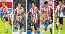 Víctor Cantillo, Teófilo Gutiérrez, Matías Fernández, Luis Díaz y Fabián Sambueza