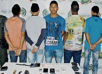 Los aprehendidos deberán responder por los delitos de hurto y fabricación, tráfico y porte ilegal de armas y/o municiones. | Al Día