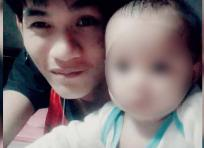 Wuttisan Wongtalay junto a su pequeña hija.Archivo particular
