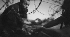 Esta es la fotografía del año en la edición 59 del World Press Photo. Muestra a un hombre pasando a un bebé a través de una valla, en la frontera entre Serbia y Hungría. EFE