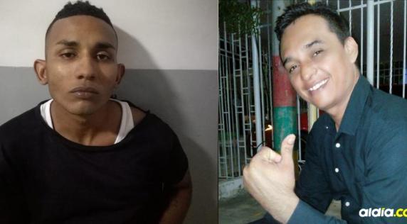Alfonso Jesús Hernández Pinto, de 24 años, alias el Líder y Argenis Vanegas Beleño, herido a bala.