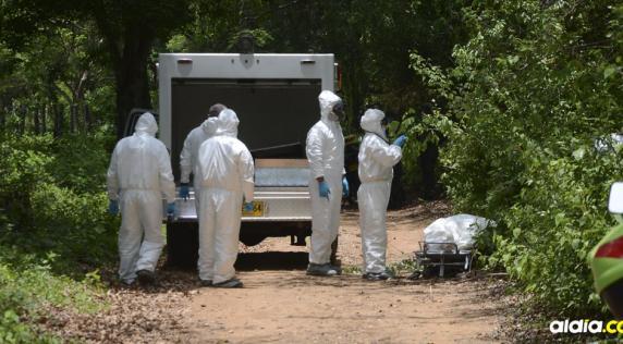 La inspección de los cadáveres la realizó el CTI de la Fiscalía.