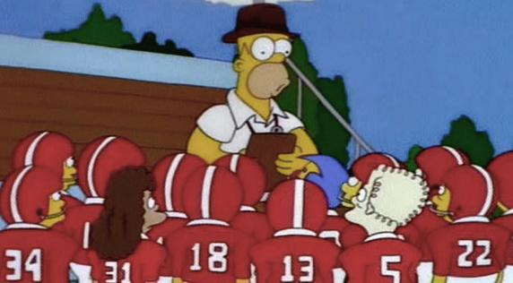 Homero entrenador. No está pero nos hizo reír | Captura de pantalla