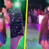 Ella lo abrazó e inmediatamente los escoltas la bajaron del escenario | Captura de pantalla