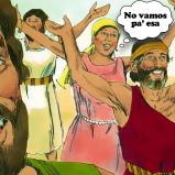 Imagen del Éxodo, de Moisés y todos los que habían escapado, cantando una canción sobre su rescate para dar gracias a Dios  | Foto: Free Bible Images