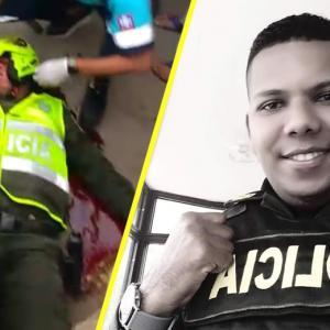El uniformado fue auxiliado por paramédicos de una ambulancia presentes en el lugar de los hechos.