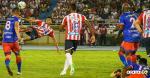 Luis Díaz remató de media chilena frente al Deportivo Pasto. La pelota resultó demasiado desviada.   Jesús Rico