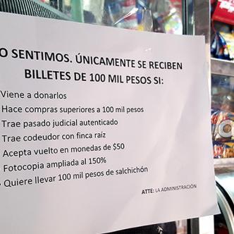 No sería raro empezar a ver este tipo de letreros en las tiendas de barrio | Foto: AL DÍA