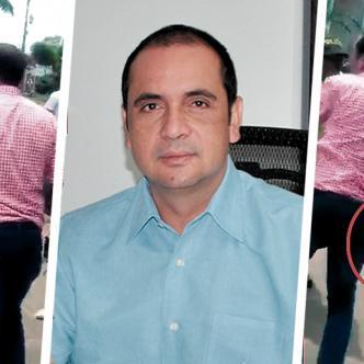 En el video aficionado se observa como Raúl Machado agarra un cuchillo para agredir a la otra persona, policía lo evita. | AL DÍA