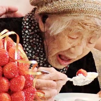 Kane Tanaka nació el 2 de enero de 1903   AFP